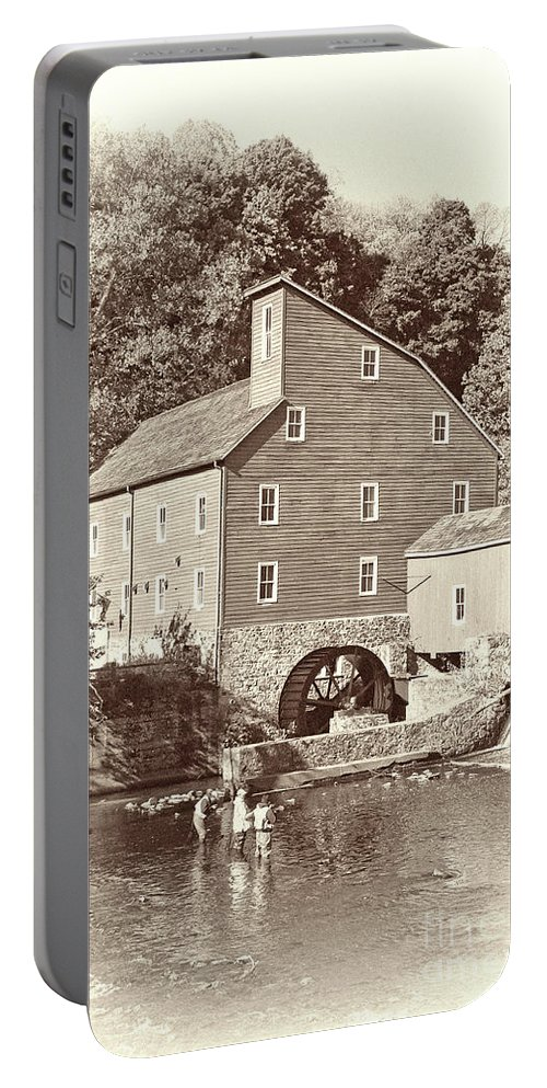 Clinton Mill Nj Portable Battery Charger featuring the photograph Timeless-clinton Mill N.j. by Regina Geoghan
