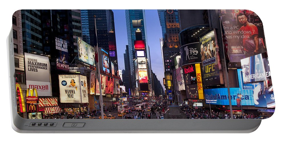 Times Square Portable Battery Charger featuring the photograph Times Square by Brian Jannsen