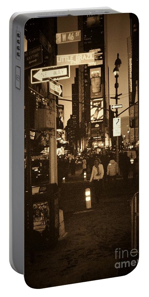 New York Portable Battery Charger featuring the photograph Times Square by Debbi Granruth