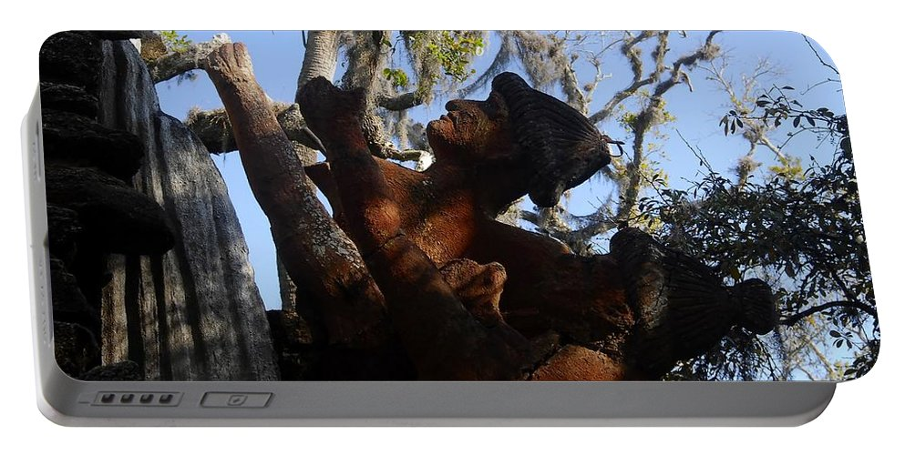 Timucuan Indains Portable Battery Charger featuring the photograph Timucuan Warriors by David Lee Thompson