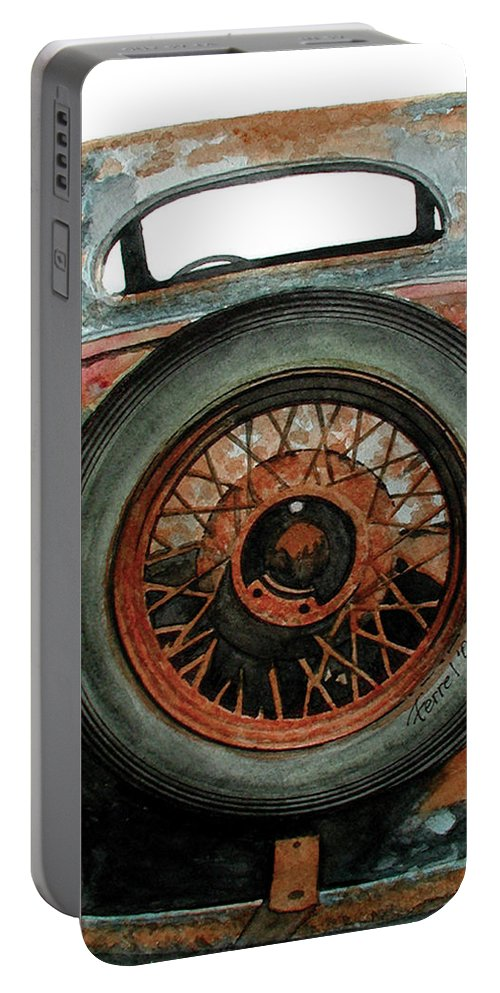 Car Portable Battery Charger featuring the painting Tired by Ferrel Cordle