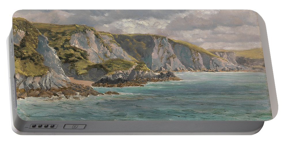 John Brett Portable Battery Charger featuring the painting Title Pwll Cwn by MotionAge Designs