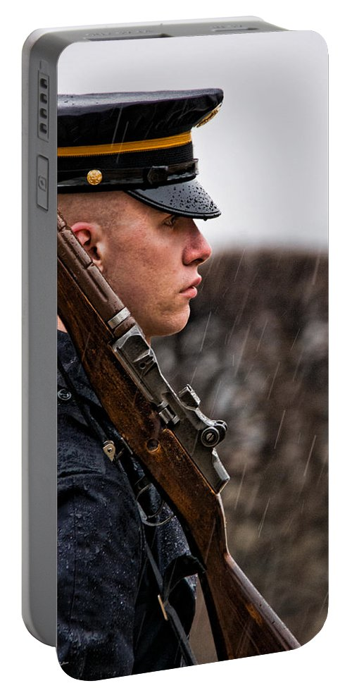 Soldier Portable Battery Charger featuring the photograph To Guard With Honor by Christopher Holmes