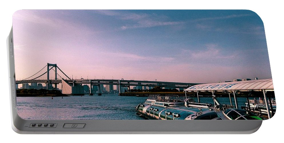 Landscape Portable Battery Charger featuring the photograph To The Space From Sea by Momoko Sano