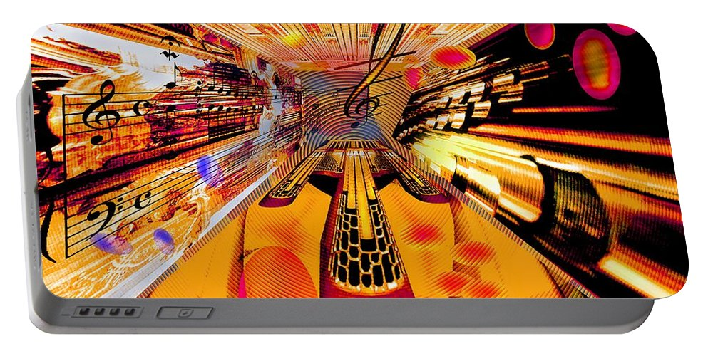 Toccata Portable Battery Charger featuring the digital art Toccata- Masters View by Helmut Rottler