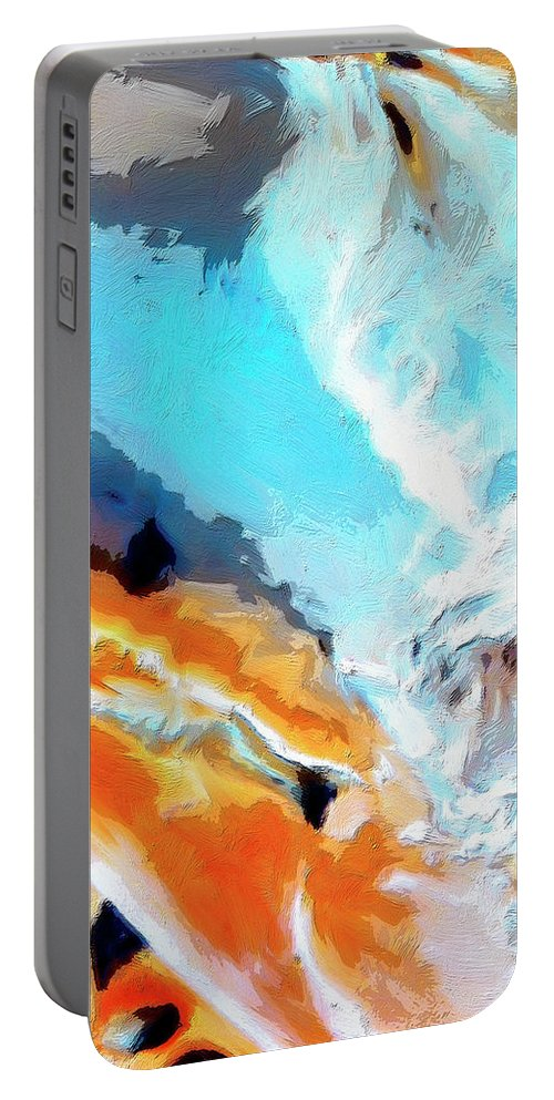 Abstract Portable Battery Charger featuring the painting Todo Santos by Dominic Piperata