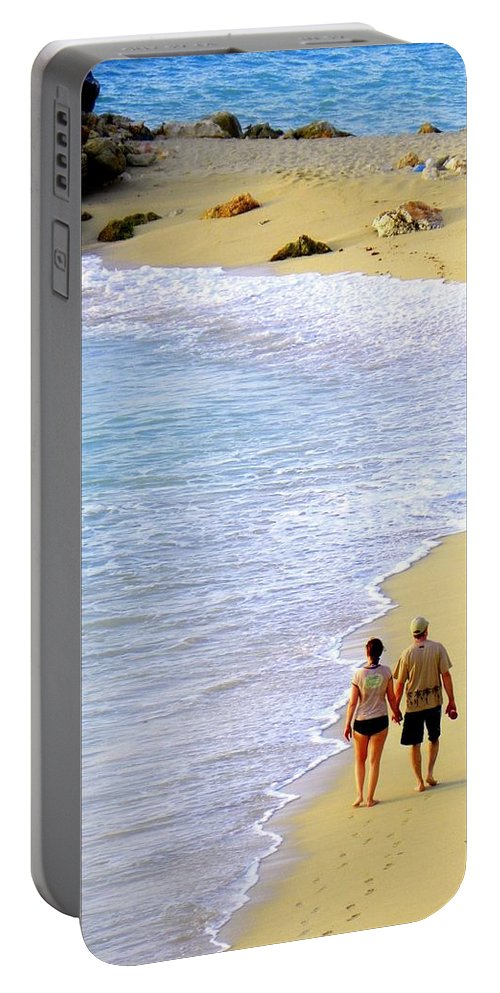 Couples In Love Portable Battery Charger featuring the photograph Together Alone by Karen Wiles