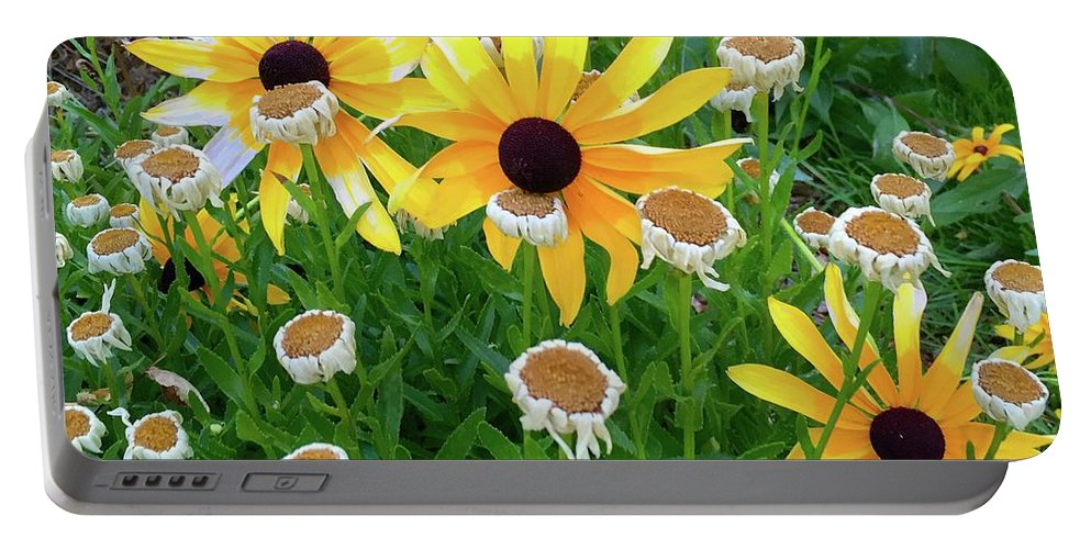 Flower Portable Battery Charger featuring the photograph Together In The Morning by Wonju Hulse