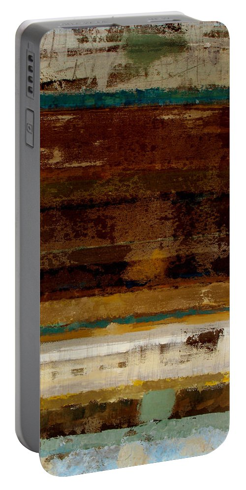 Abstract Portable Battery Charger featuring the painting Togetherness II by Ruth Palmer