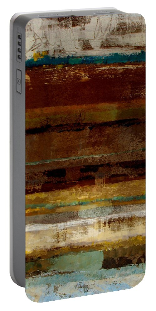 Abstract Portable Battery Charger featuring the painting Togetherness by Ruth Palmer