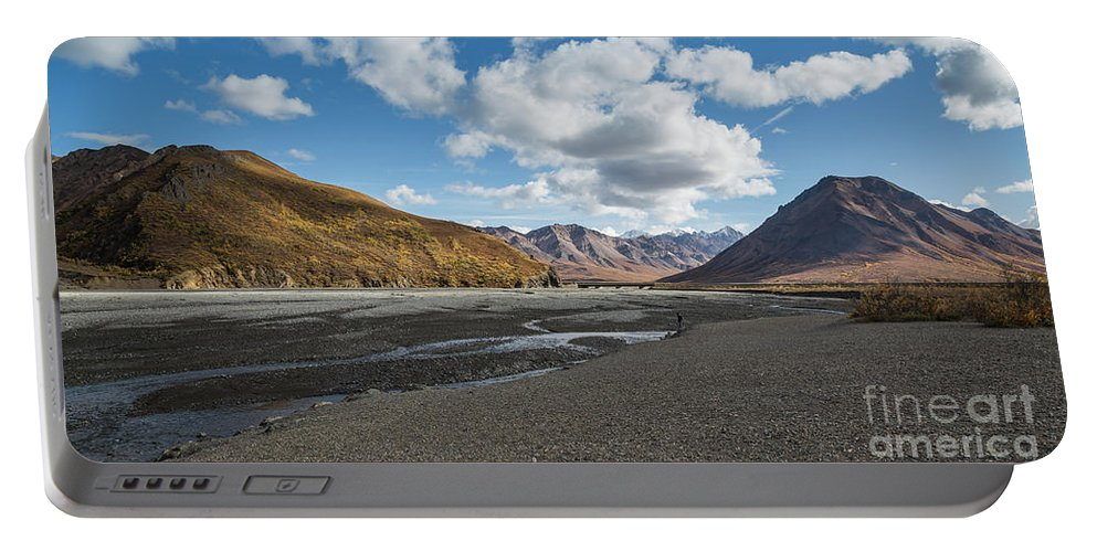 Toklat River Portable Battery Charger featuring the photograph Toklat River by Eva Lechner