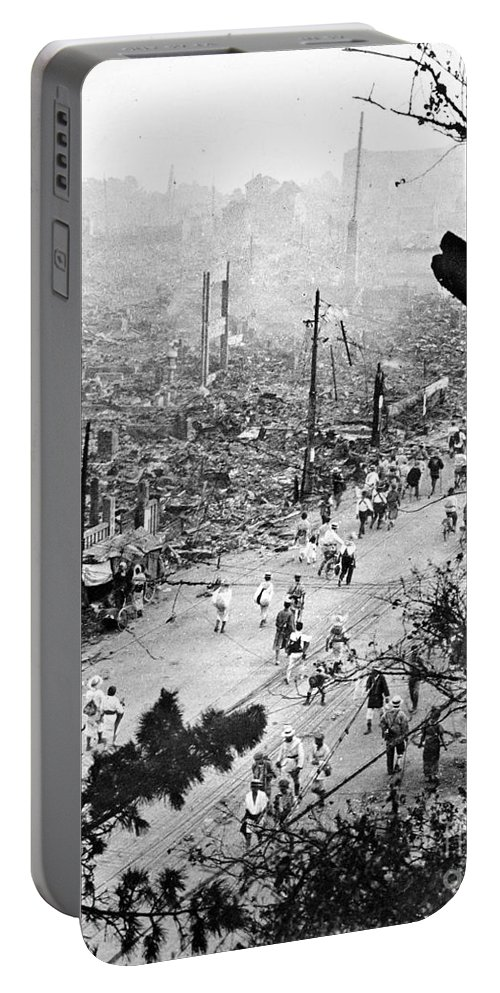 1923 Portable Battery Charger featuring the photograph Tokyo Earthquake, 1923 by Granger