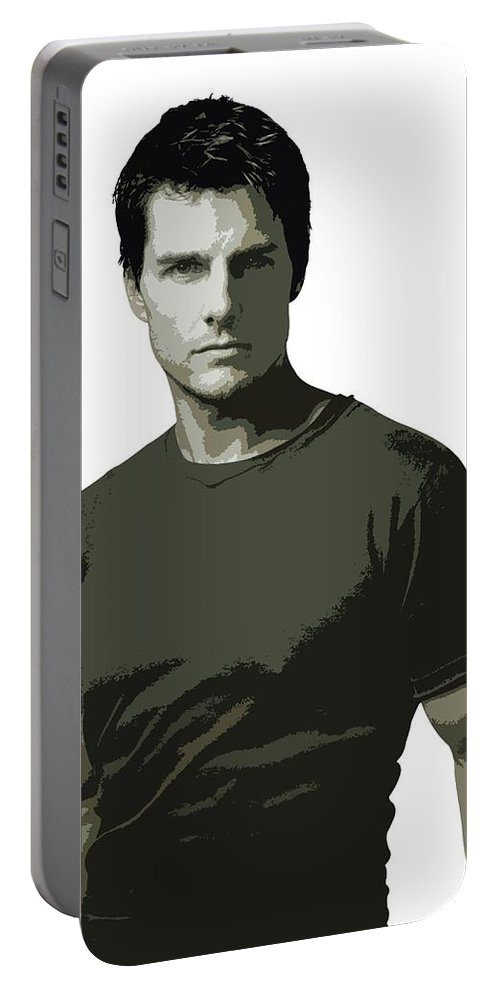 Tom Cruise Portable Battery Charger featuring the digital art Tom Cruise Cutout Art by David Dehner