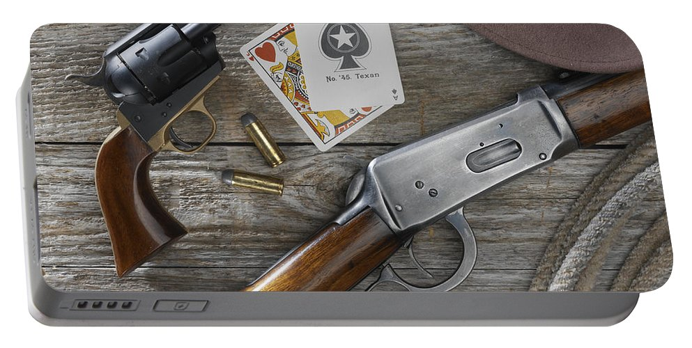 Old West Portable Battery Charger featuring the photograph Tools Of The Trade by Jerry McElroy