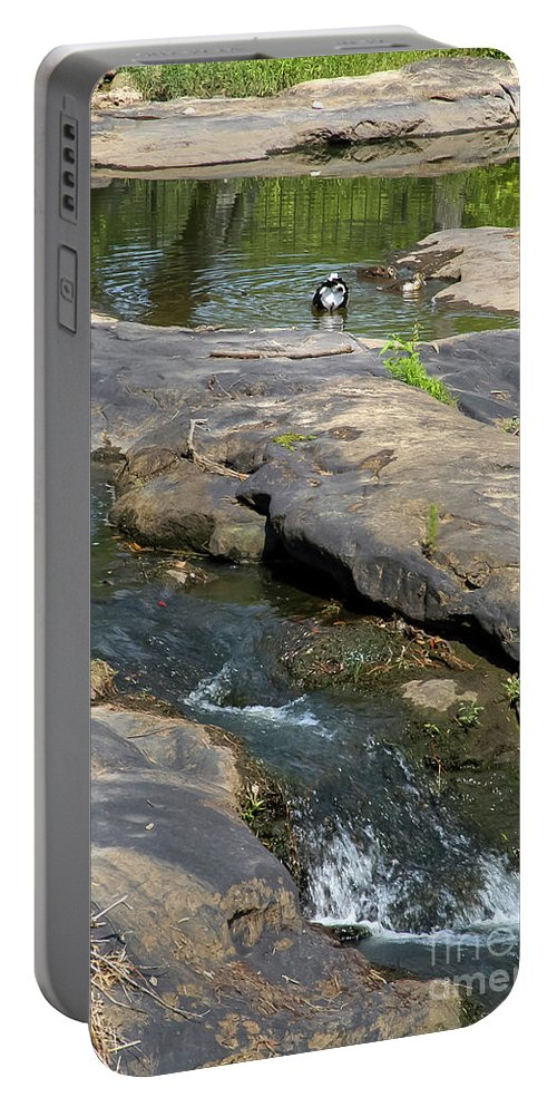 Noccalula Falls Park Portable Battery Charger featuring the photograph Top Of Noccalula Falls by Bob Phillips