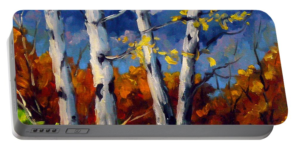 Peintre Portable Battery Charger featuring the painting Top Sides Colors by Richard T Pranke