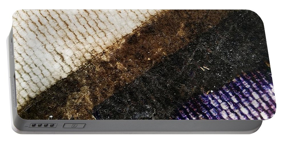 Abstract Portable Battery Charger featuring the photograph Torn by JustA Capharnaum