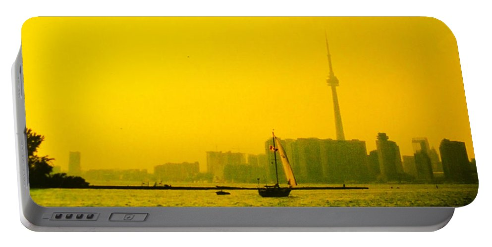 Toronto Portable Battery Charger featuring the photograph Toronto At Sunset by Ian MacDonald