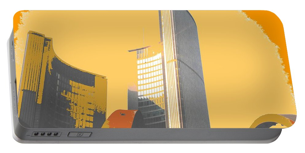 Toronto Portable Battery Charger featuring the photograph Toronto City Hall Arches by Ian MacDonald