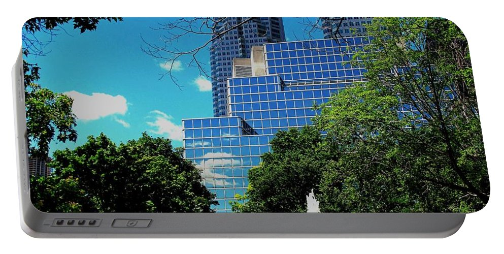 Park Portable Battery Charger featuring the photograph Toronto Wellington Street Park by Ian MacDonald