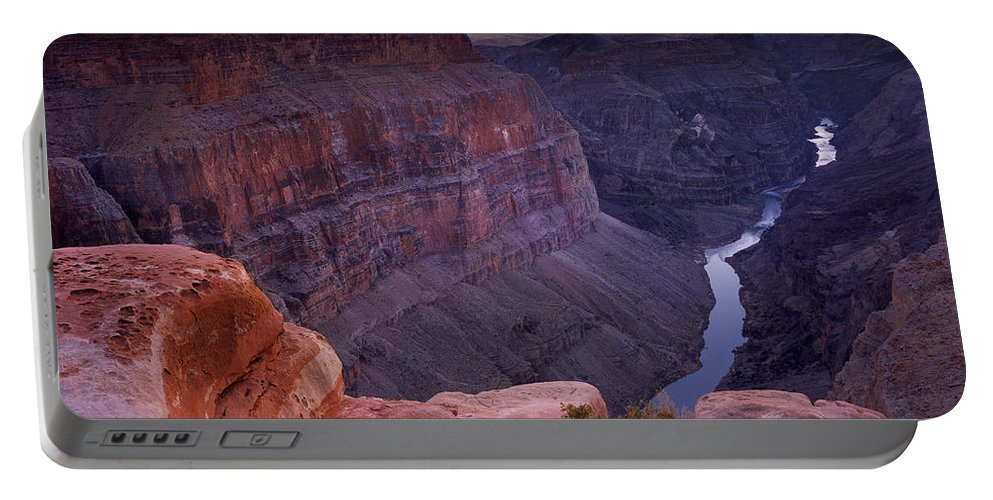 Grand Canyon Portable Battery Charger featuring the photograph Toroweap Overlook Sunset by Leland D Howard