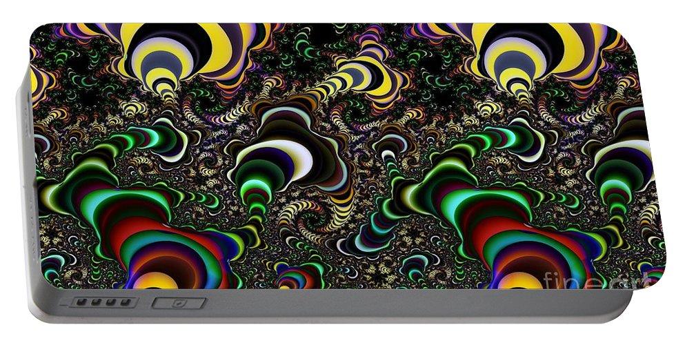 Torus Portable Battery Charger featuring the digital art Torus Spirals by Ron Bissett