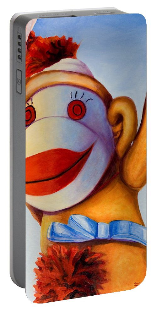 Children Portable Battery Charger featuring the painting Touchdown by Shannon Grissom