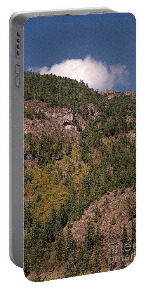 Mountains Portable Battery Charger featuring the photograph Touching The Clouds by Richard Rizzo