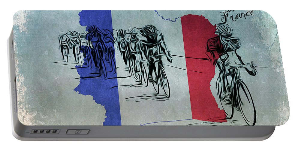 Bike Portable Battery Charger featuring the photograph Tour De France by Bill Cannon