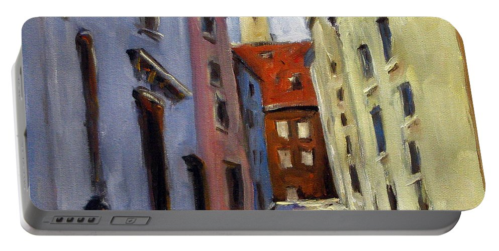Urban Portable Battery Charger featuring the painting Tour Of The Old Town by Richard T Pranke