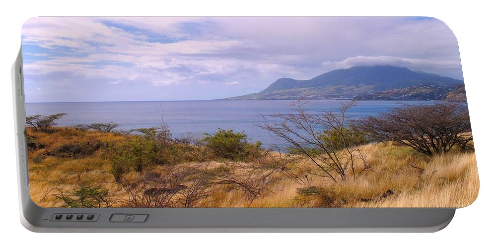 St Kitts Portable Battery Charger featuring the photograph Towards Basseterre by Ian MacDonald