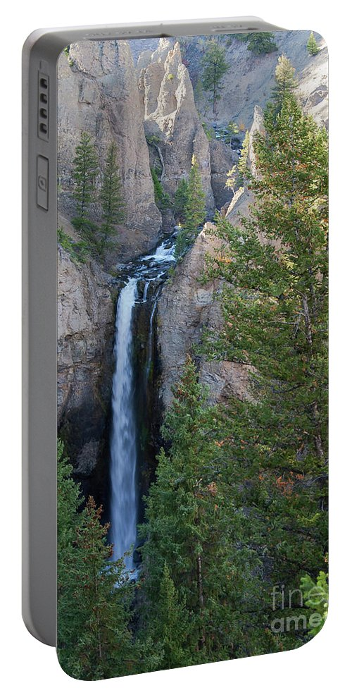 Tower Falls Portable Battery Charger featuring the photograph Tower Falls by Bob Phillips