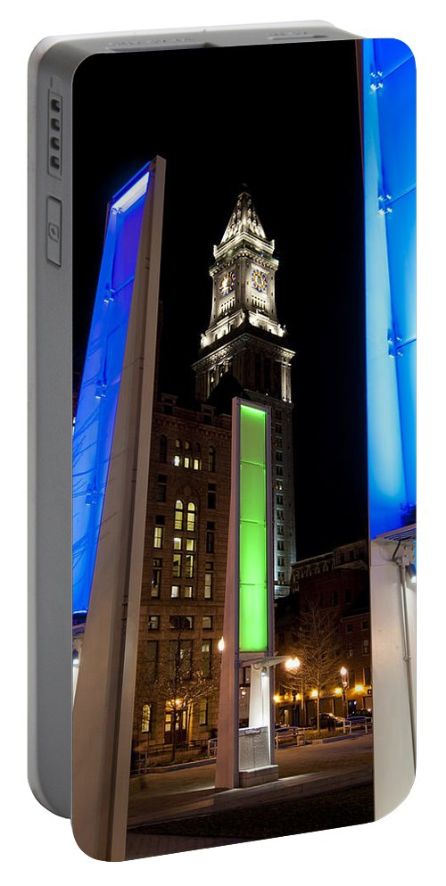 Light Portable Battery Charger featuring the photograph Towers Of Light by Greg Fortier