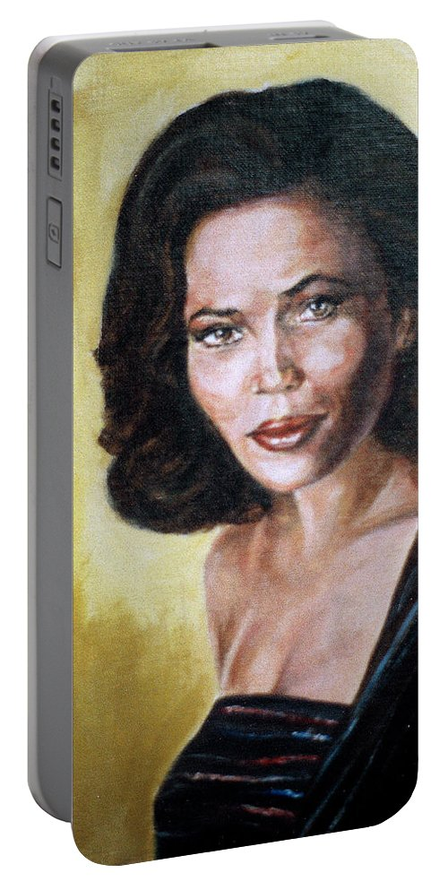 Tracey Ross Portable Battery Charger featuring the painting Tracey Ross by Bryan Bustard