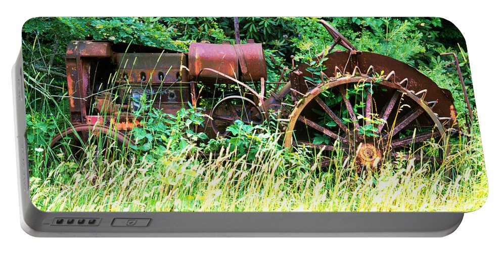 Tractor Portable Battery Charger featuring the photograph Tractor by Robert Ponzoni
