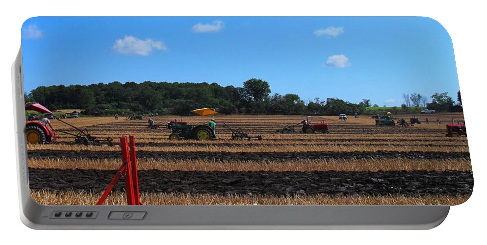 Tractors Portable Battery Charger featuring the photograph Tractors Competing by Ian MacDonald