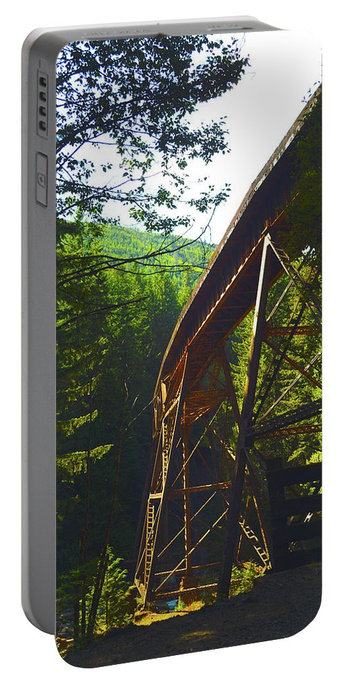 Portable Battery Charger featuring the photograph Train Bridge by Brian O'Kelly