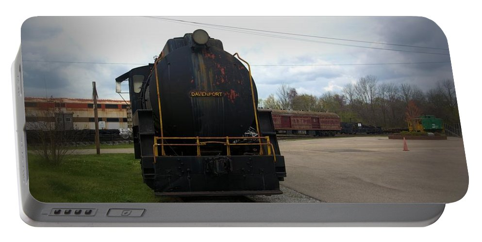 Train Portable Battery Charger featuring the photograph Trains 3 Vign by Jay Mann