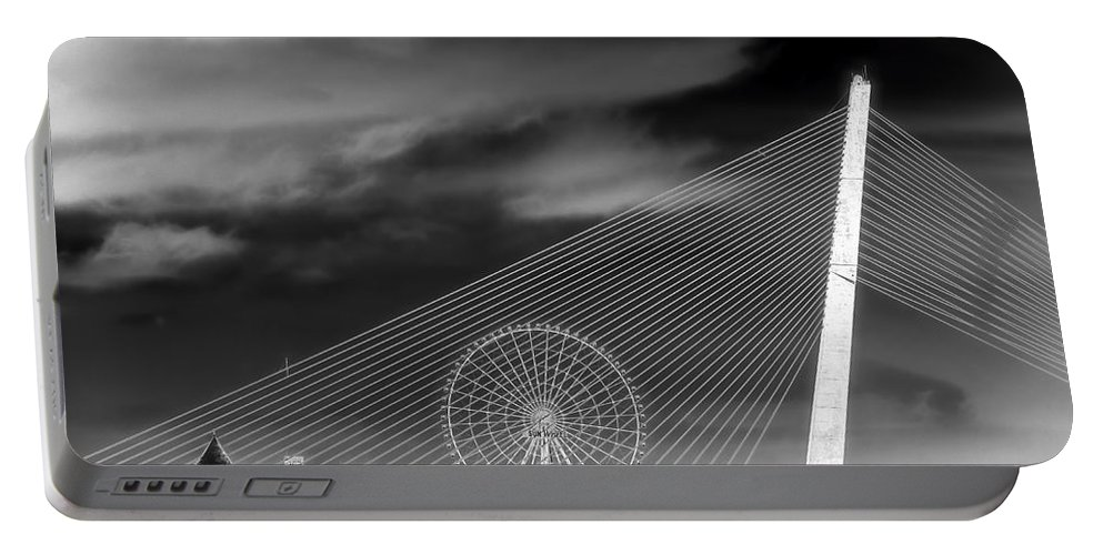 Vietnam Portable Battery Charger featuring the photograph Tran Thi Ly Bridge by Claude LeTien