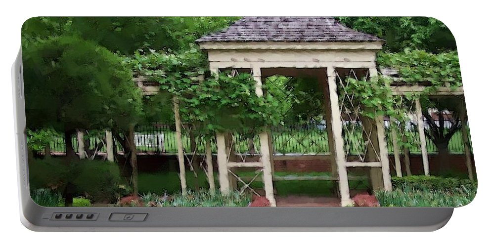 Garden Portable Battery Charger featuring the photograph Tranquil by Debbi Granruth