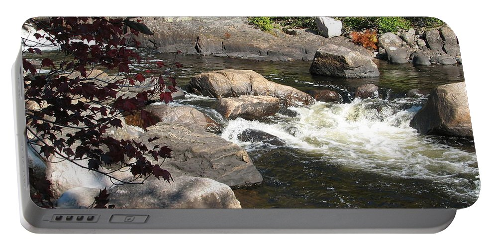River Portable Battery Charger featuring the photograph Tranquil Spot by Kelly Mezzapelle