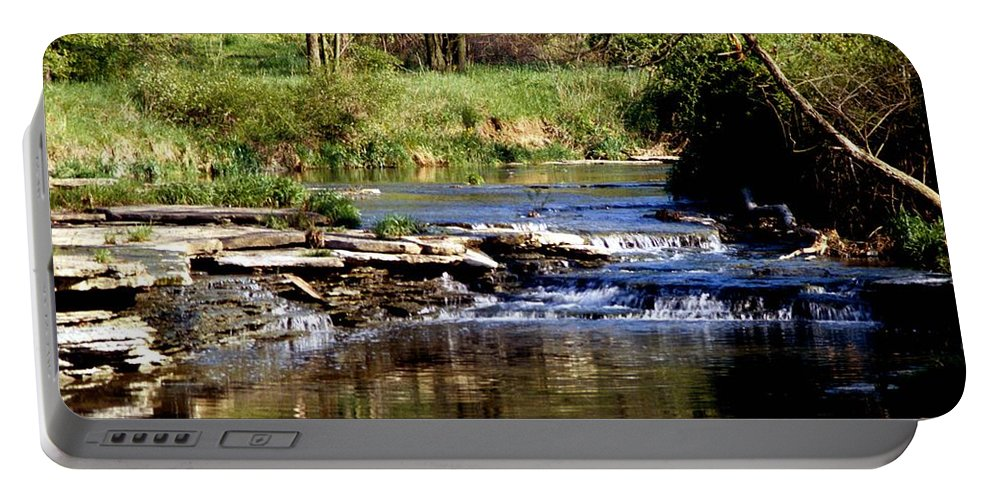 Creek Portable Battery Charger featuring the photograph Tranquil Stream by Gary Wonning