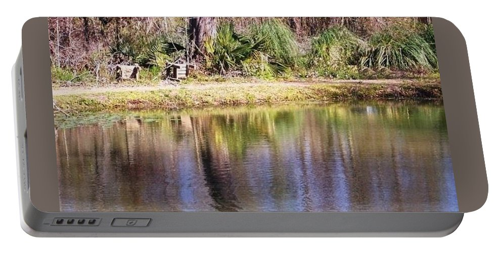 Tranquil Portable Battery Charger featuring the photograph Tranquil Waters by Lindsey Saucier