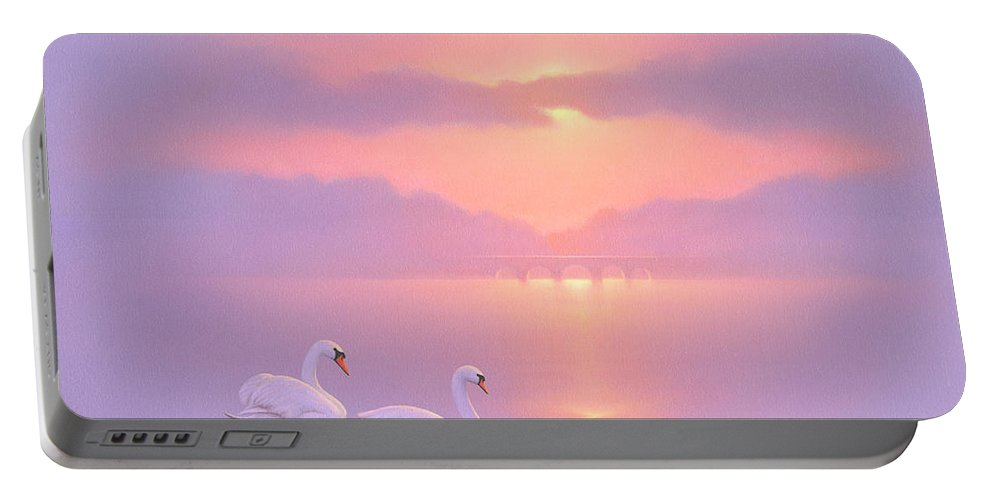 Tranquility Portable Battery Charger featuring the painting Tranquility by Brian McCarthy