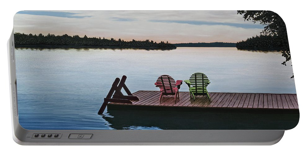 Landscapes Paintings Portable Battery Charger featuring the painting Tranquility by Kenneth M Kirsch