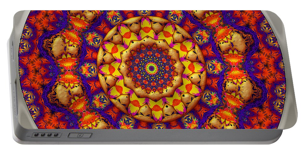 Circle Portable Battery Charger featuring the digital art Tranquility by Robert Orinski