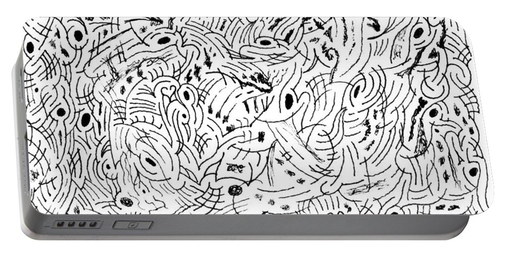 Mazes Portable Battery Charger featuring the drawing Transcendental by Steven Natanson
