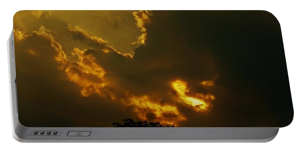 Cloud Portable Battery Charger featuring the photograph Transformation by Erin Brady