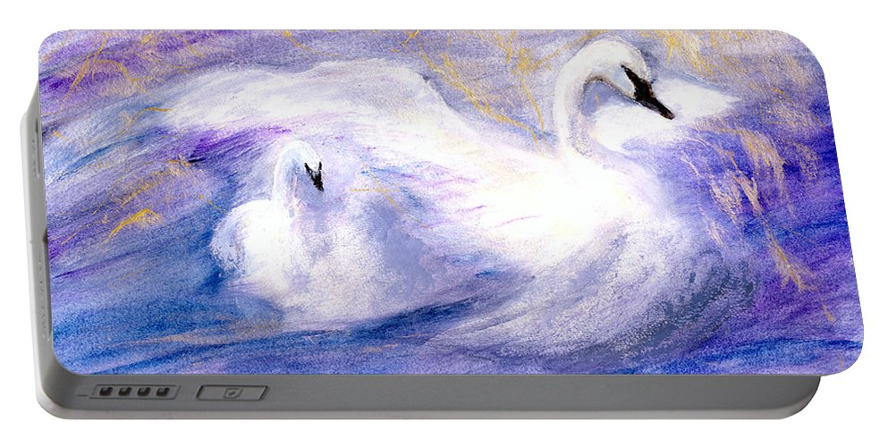 Birds Portable Battery Charger featuring the painting Transformation by Gail Kirtz