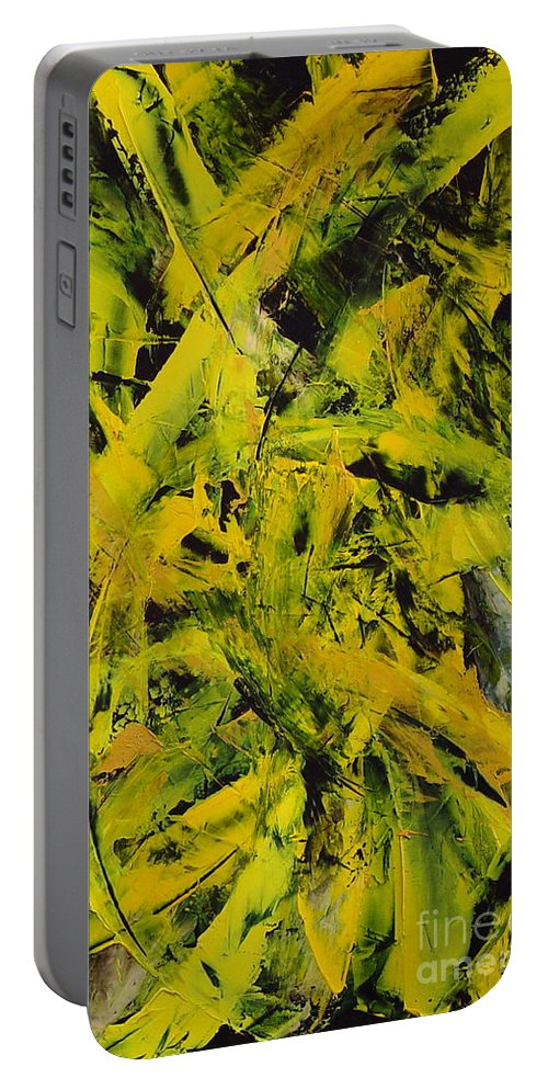 Abstract Portable Battery Charger featuring the painting Transitions Vi by Dean Triolo